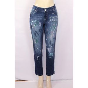 NYC PAINT SPLATTER BOYFRIEND STRETCH JEAN SIZE 12